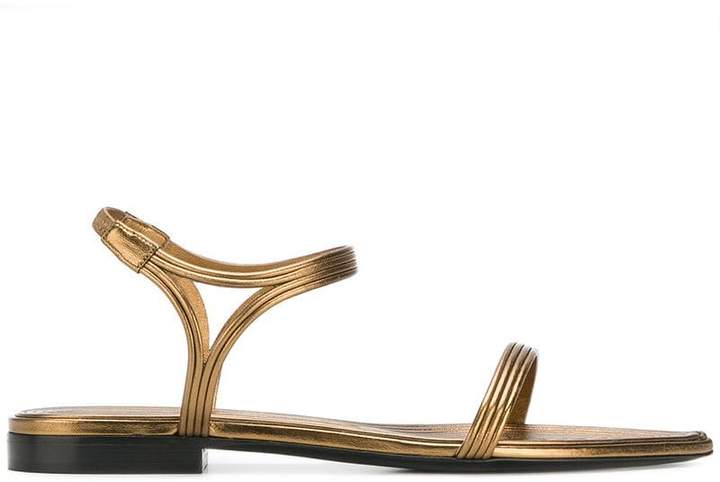 Saint Laurent flat strappy sandals