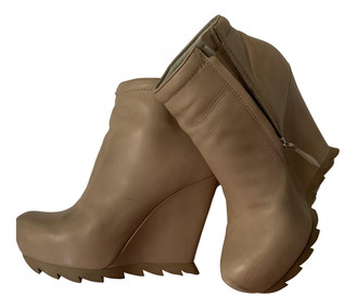 Camilla Skovgaard Beige Leather Ankle boots