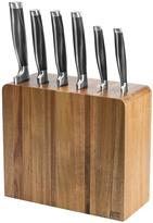 Jamie Oliver 6 Piece Acacia Wood Professional Knife Block
