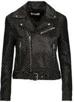 IRO Alpha Printed Calf Hair-Effect Leather Biker Jacket