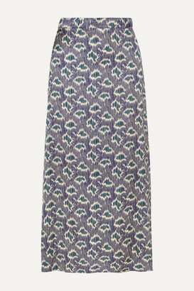 Vanessa Bruno Marie Printed Crepe Midi Skirt - Blue