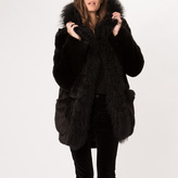 Maje Faux-fur coat