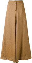 Aspesi long button front skirt - women - Linen/Flax - 44