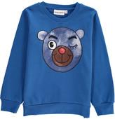 Mini Rodini Organic Cotton Bear-Cub Sweatshirt