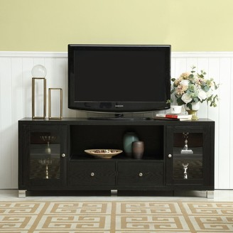 "Overstock TV Stand Media Console with Adjustable Shelves Cabinet Door - 58""x15.5""x22.80"""