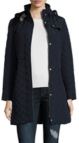 Cole Haan Quilted Hooded Jacket