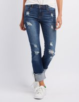 Charlotte Russe Sneak Peek Destroyed Boyfriend Jeans