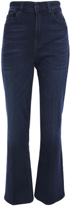 7 For All Mankind Faded High-rise Flared Jeans