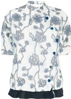 Chloé organza flower embroidered blouse