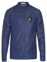 J.w.anderson Patch Detail Cotton-denim Shirt