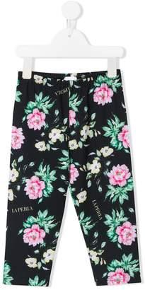 La Perla Kids floral print leggings