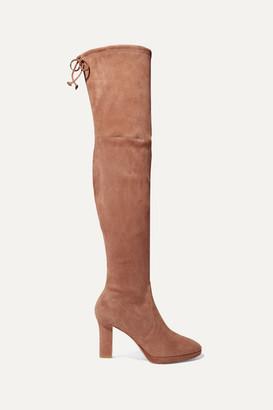Stuart Weitzman Ledyland Suede Platform Over-the-knee Boots - Light brown