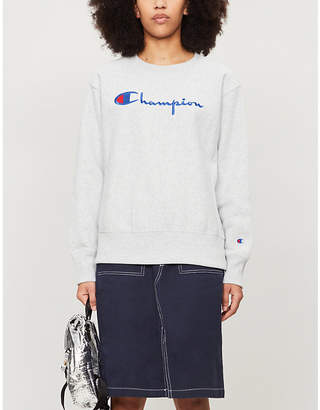Champion Logo-embroidered cotton-jersey sweatshirt