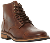 Bertie Charli Toecap Detail Lace-up Leather Boots