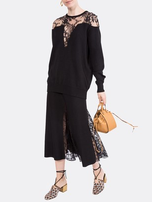 Givenchy Lace Panel Sweater Black