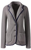 Classic Women's Polar Fleece Blazer-French Walnut