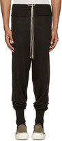 Rick Owens Black Wool Lounge Pants