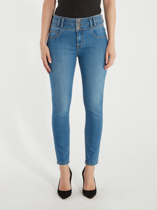 Current/Elliott The Pinball High Rise Ankle Skinny Stiletto Jeans