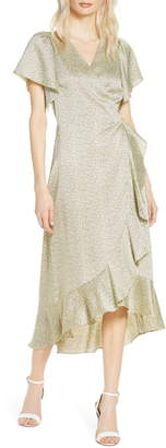 Chelsea28 Flutter Sleeve Wrap Dress