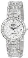 Burgi Women's BUR060SS Diamond & Baguette Quartz Watch