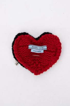 Prada Knitted Heart Brooch