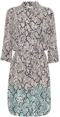 Heidi Klein Mombasa snake-effect shirt dress
