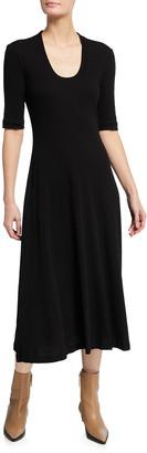 Rosetta Getty Cotton-Jersey Midi Shirtdress