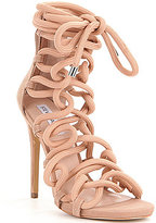 Steve Madden Dancin Back Zip Bungee Inspired Lace-Up High Heel Dress Sandals