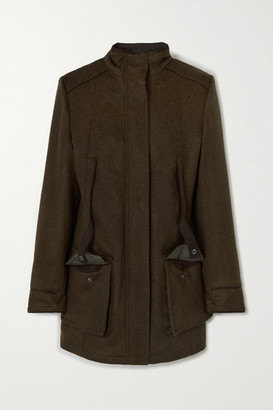 Purdey - Loden Wool And Alpaca-blend Jacket - Army green