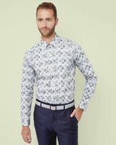 POSSUMS Floral cotton shirt