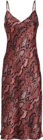 L'Agence Jodie Python Slip Dress