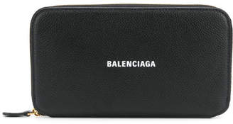Balenciaga Leather Continental Wallet
