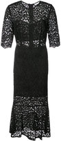 Veronica Beard lace embroidered flared dress