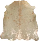Acid Burnt Cowhide Rug