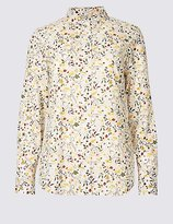 Classic Pure Cotton Ditsy Print Long Sleeve Shirt