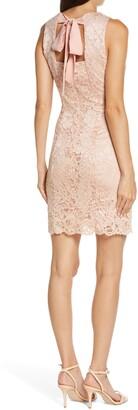 Lace Embroidered Sheath Dress