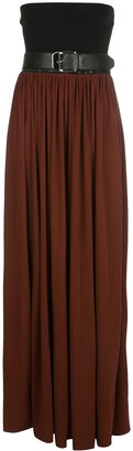 Proenza Schouler Strapless Pleated Dress
