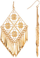 Stephan & Co Diamond Filigree Fringe Drop Earrings
