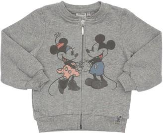 Wheat Minnie & Mickey Mouse Cotton Sweatshirt