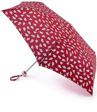 Lulu Guinness Beauty Spot Kiss Mini Lite Umbrella - Red Print