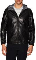 Vince Reversible Hooded Leather Jacket