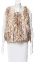 Rebecca Taylor Faux Fur Knit Vest