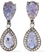 Amrapali 18-karat Gold, Silver, Tanzanite And Diamond Earrings