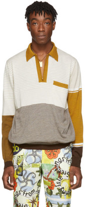Martine Rose Beige Fine Knit Polo