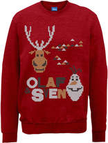 Disney Frozen Christmas Olaf And Sven Red Christmas Sweatshirt