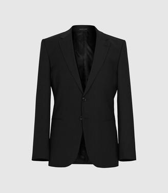Reiss Pray - Slim Fit Travel Blazer in Black