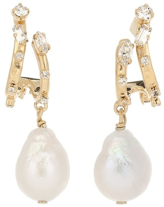 Givenchy Spiral pearl earrings