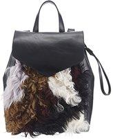 Loeffler Randall Women's Small Drawstring Back pack, Black/Multi