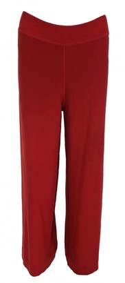 Sonia Rykiel Red Cotton Trousers for Women