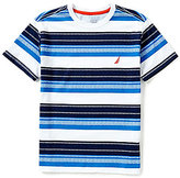 Nautica Big Boys 8-20 Horizontal-Striped Short-Sleeve Tee